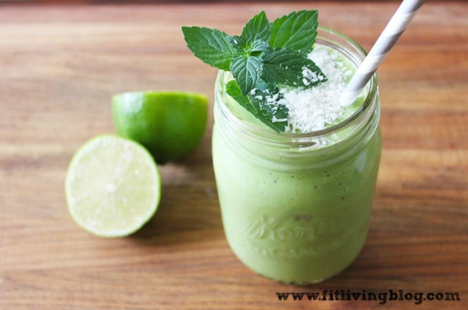 lime coconut green smoothie