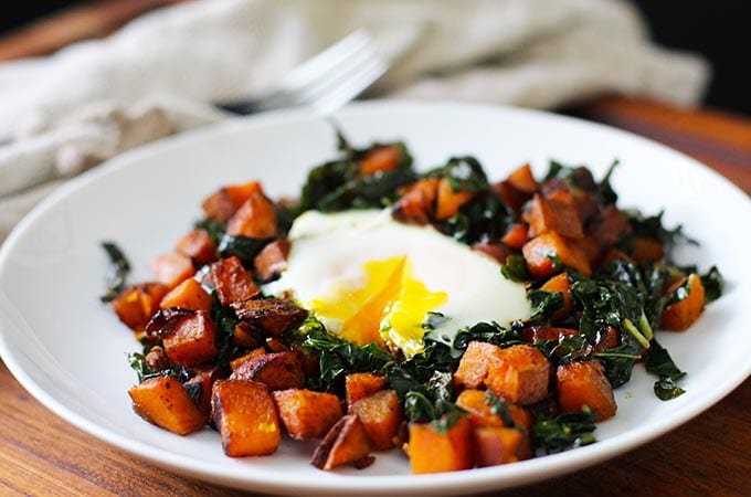 "Sweet Potato and Kale Hash for ""Brunner"" {Gluten Free}"
