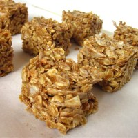 peanut butter coconut no bake oat bars