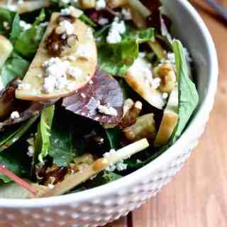 Apple Walnut Salad with Balsamic Almond Dressing [Fit Mitten Kitchen]