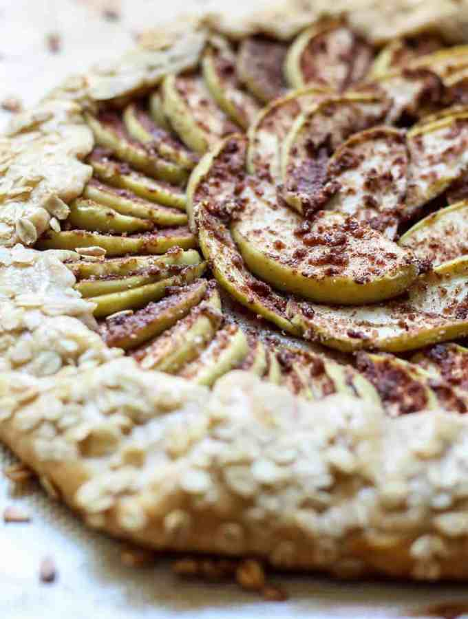 Whole Wheat Chai Spiced Apple Galette. Perfect with ice cream!