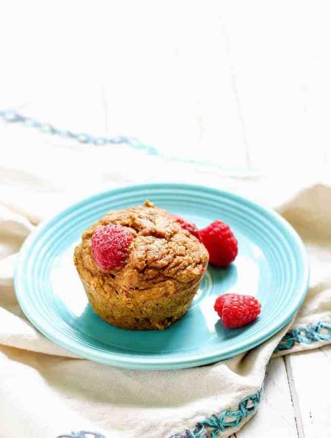 Whole Wheat Raspberry Pumpkin Muffins-13