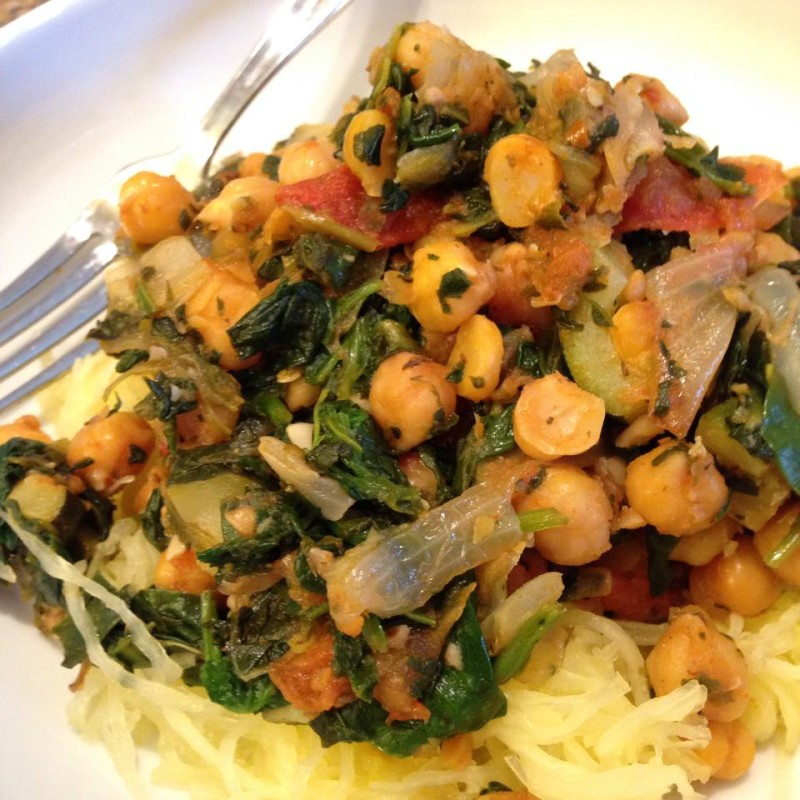 Chick Pea & Spinach Saute - Fit Mom Angela D - Team Beachbody Coach