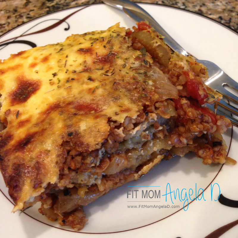 Vegetarian Moussaka (Greek Lasagna) - Fit Mom Angela D ...