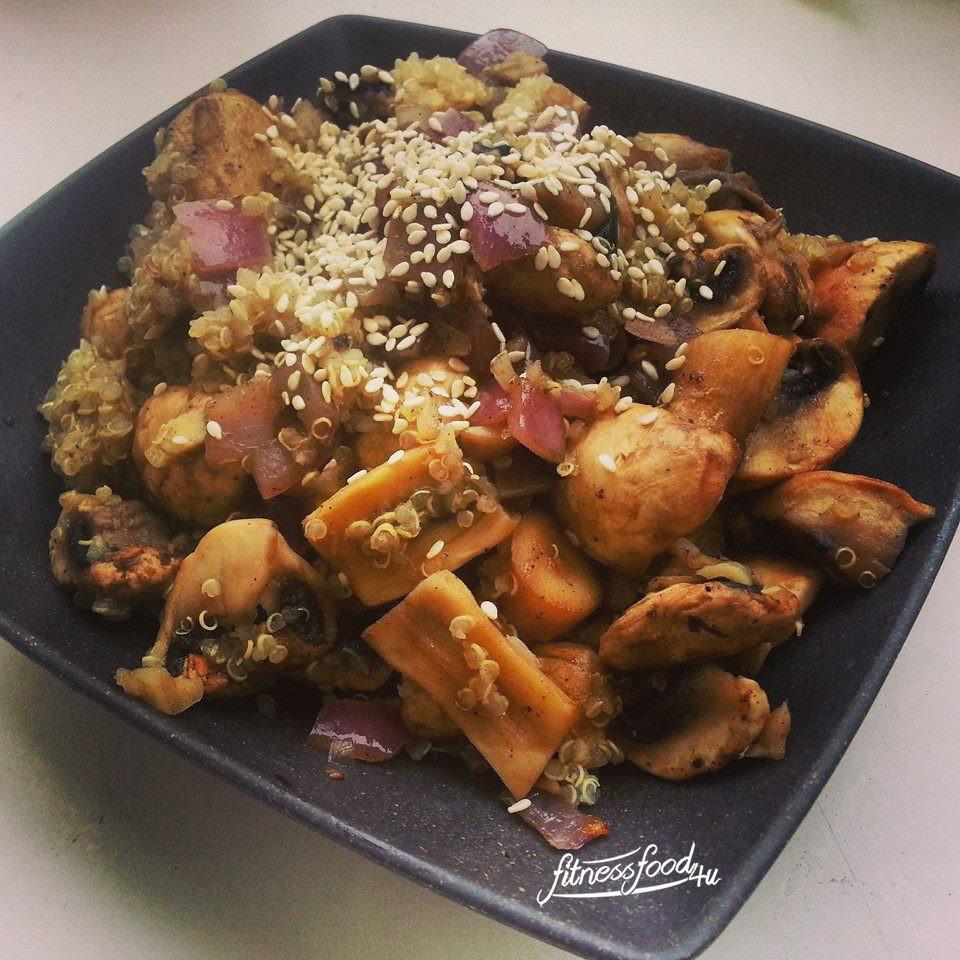 Pilzpfanne mit Quinoa