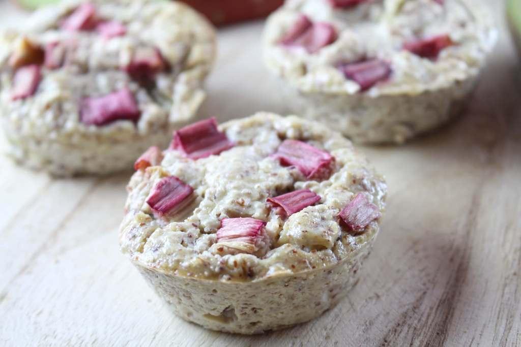 Rhabarber Muffins (Low Carb und vegan)