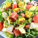 Salat-Kurkuma-Hähnchen