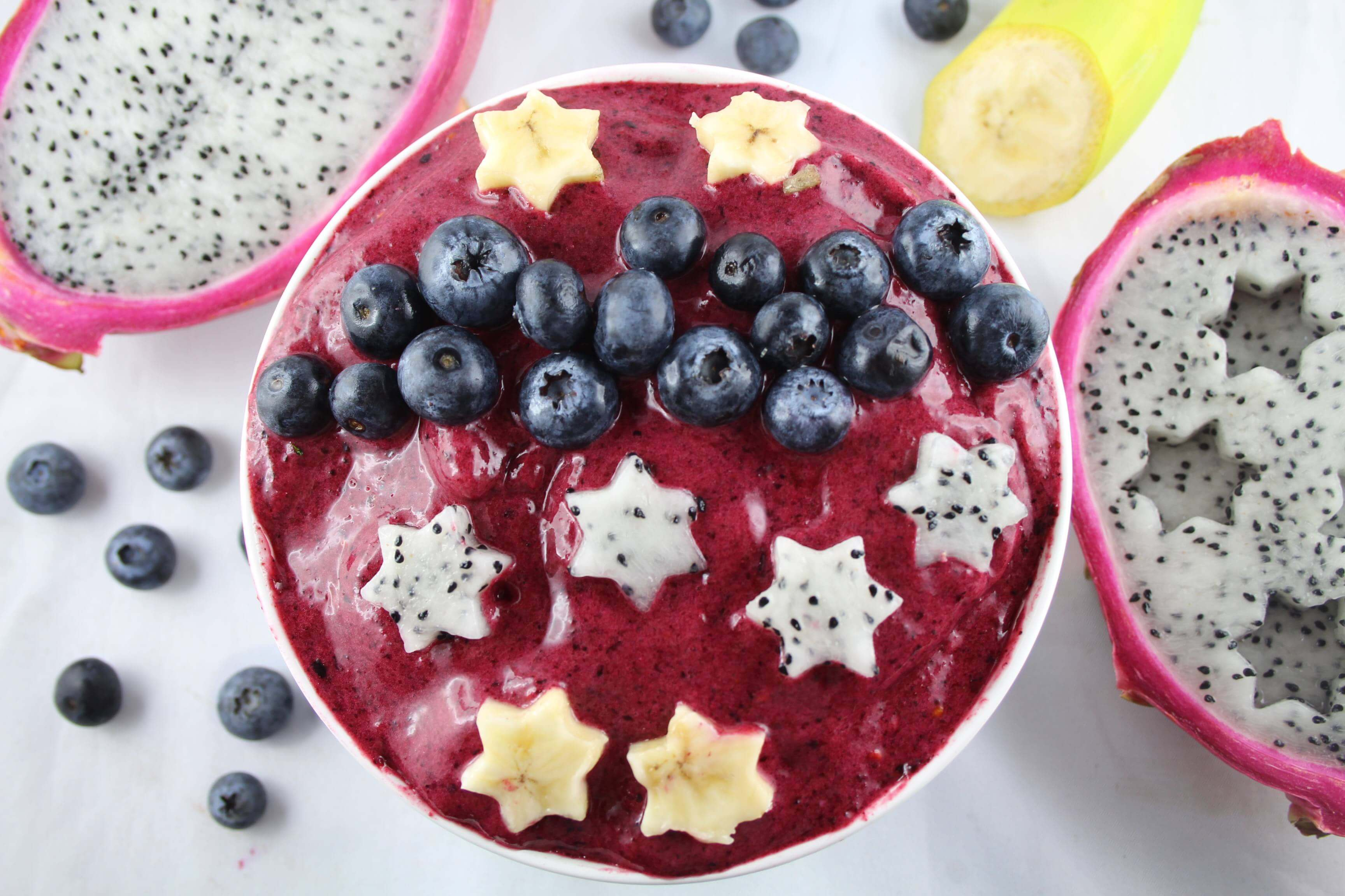 pitaya blueberry smoothiebowl