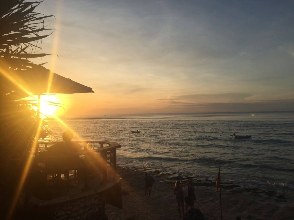 Bingin Beach Bali sunset