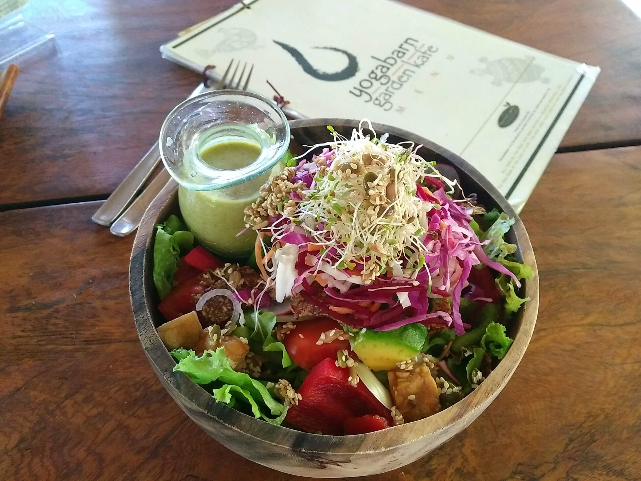 healthy food guide Bali, Ubud - Yogabarn Salat