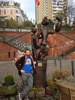 Chilling with Popeye in Hamburg, Germany.