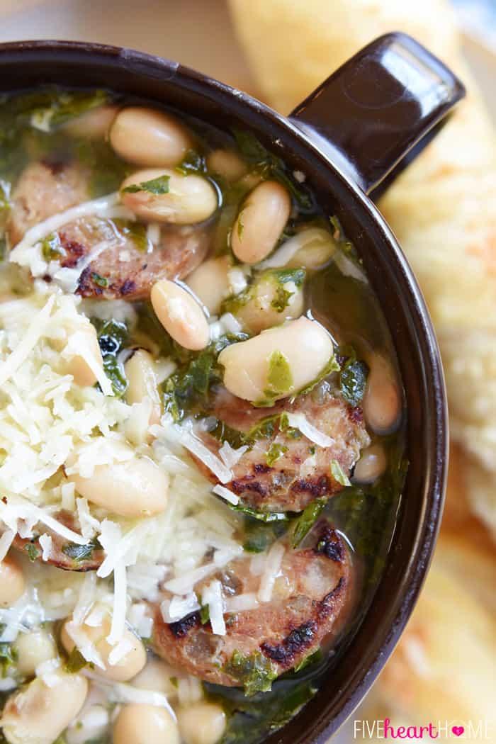 Paleo Big Ray's White Bean, Kale, and Kielbasa Soup