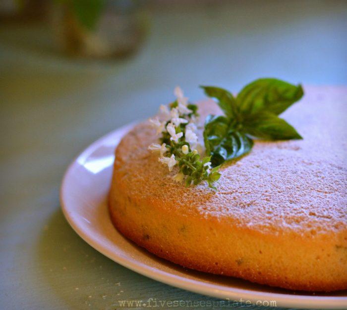 Olive Oil Basil & Lemon Cake Recipe | Five Senses Palate