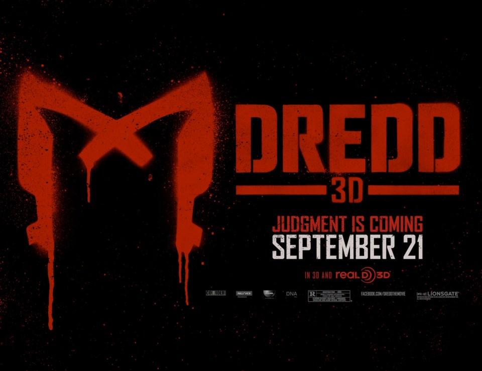 DREDD 3D - Cool new Poster Art