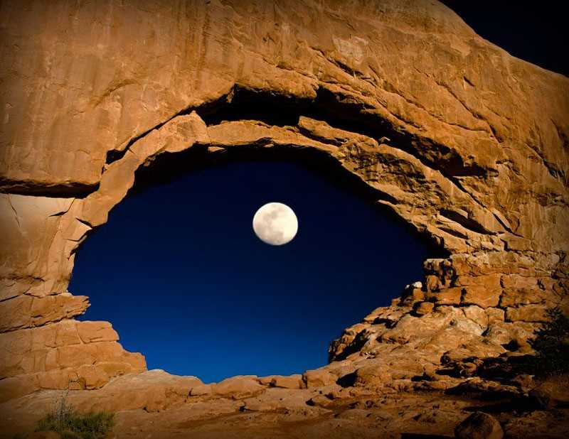 moon through mountain 2013