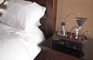 Alarm Clock Wakes You Up With A Cup Of Coffee