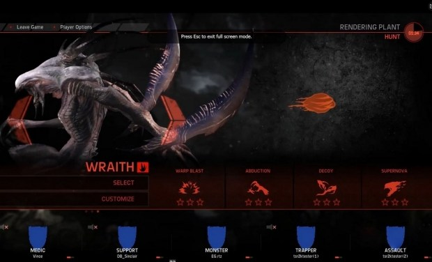Evolve's Third Monster The Wraith