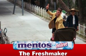 Chase Scene from Bloodsport Turned Into a Mentos Ad
