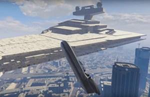STAR WARS Vehicles Flying Over Los Santos in New GTA V Mod