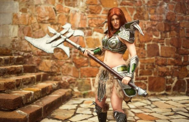 Cosplay of Barbarian From Diablo III