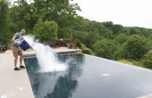 Dry Ice Into a Swimming Pool