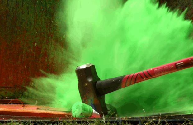 Exploding Paint Cans