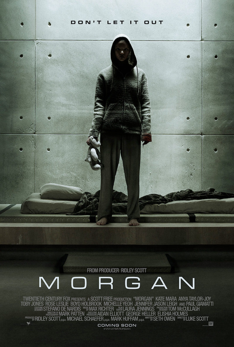 New Trailer of Sci-fi Thriller MORGAN Got It's Second Trailer