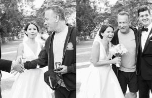 Tom Hanks Photobombed Newlyweds in Central Park