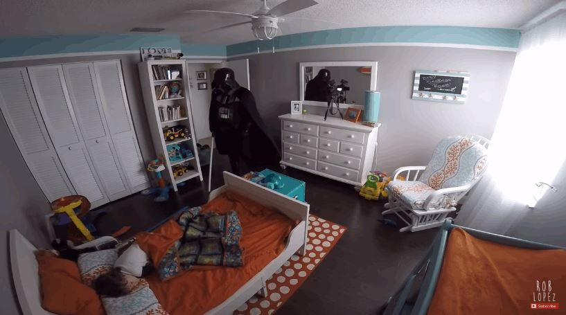 Darth Vader Dad Tries To Scare His Son But It Hilariously Backfires