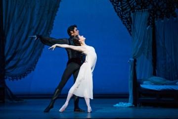 "Marianela Nunez and Thiago Soares in the Royal Ballet's ""Onegin."" Photograph by Tristram Kenton"