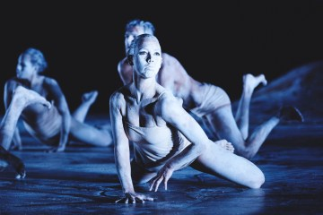 "Tara Robertson in Bangarra Dance Theatre ""Ochres."" Photo by Edward Mulvihill"