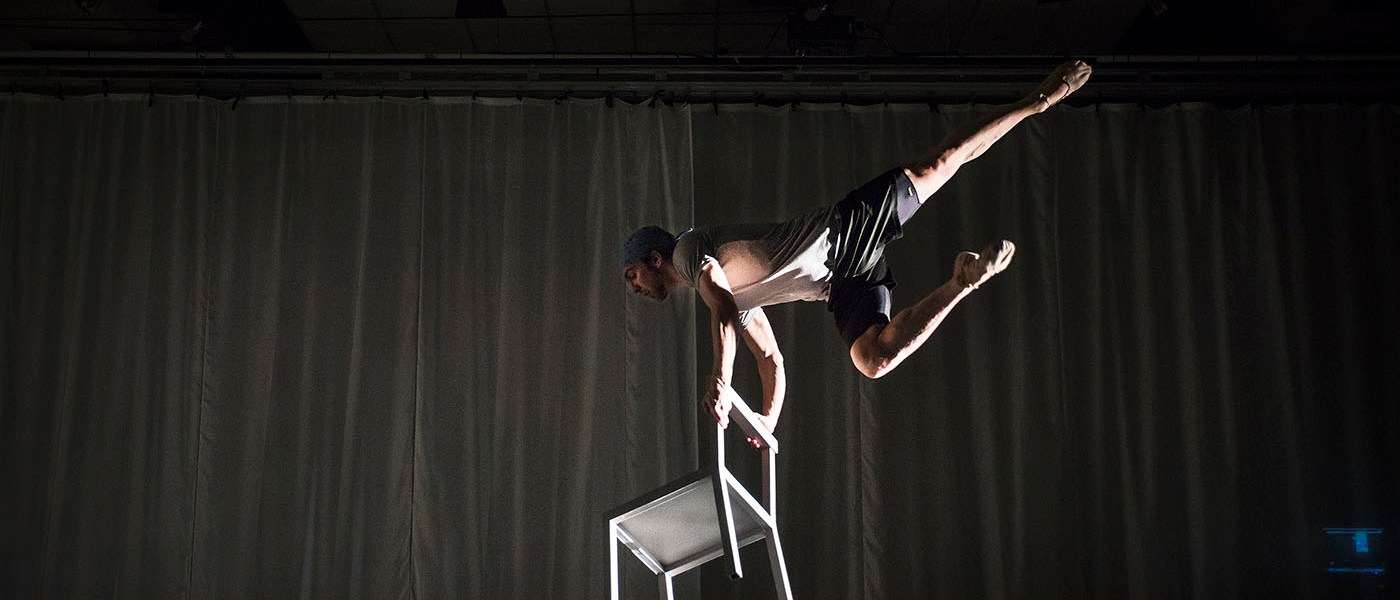 "Dylan Tedaldi in rehearsal for ""Le Petit Prince."" Photograph by Aaron Vincent Elkaim"