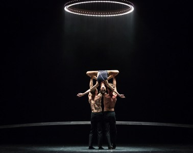 """Kevin Jackson, Vivienne Wong and Rudy Hawkes in """"Little Atlas"""" by Alice Topp. Photograph by Daniel Boud"""