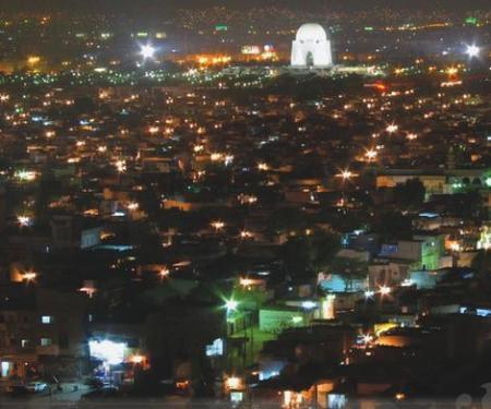 Karachi city Attractive Night View