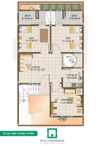 Bungalow 120 sq yards Double Story First Floor