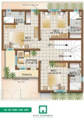 Bungalow 120 sq yards One Unit First Floor