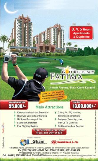 Fatima Golf Residency Malir Cantt Karachi