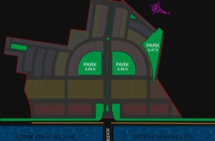 Citi Housing Gujranwala Phase-I - Master or Layout Plan