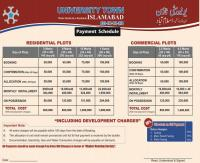 University Town Islamabad - Payment Schedule