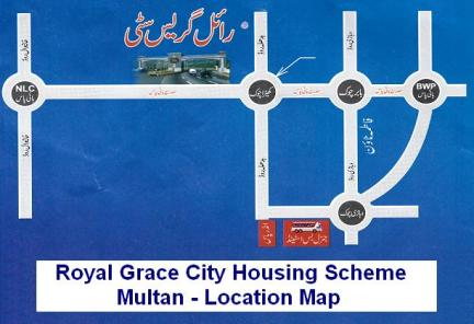 Royal Grace City Multan - Location Map or Plan