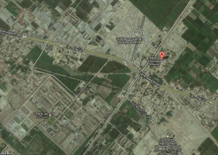 Satellite Map of Ashiana Housing Scheme Faisalabad