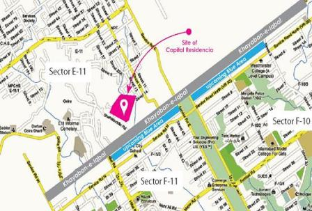 Capital Residencia Islamabad Location Map