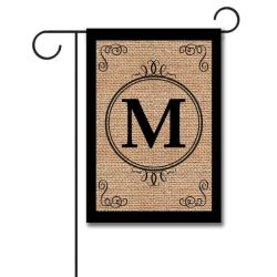 Manly Burlap Scroll Personalized Monogram Garden Flag Personalized Fall Garden Flags Personalized Garden Flags Walmart inspiration Personalized Garden Flags