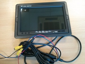 "7"" TFT monitor which can be used for the back seats"