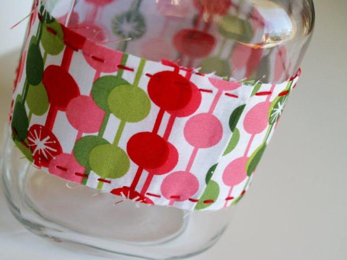 Gluing Christmas Labels Together