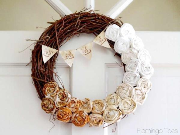Fall Rosette Wreath