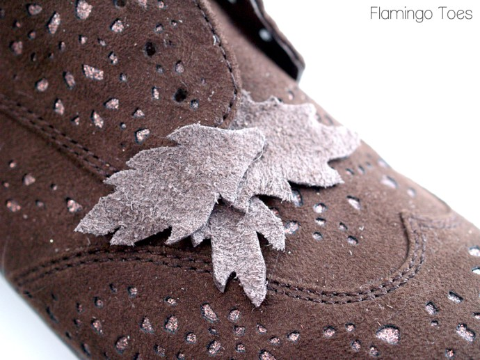 Leather Leafs on Shoes