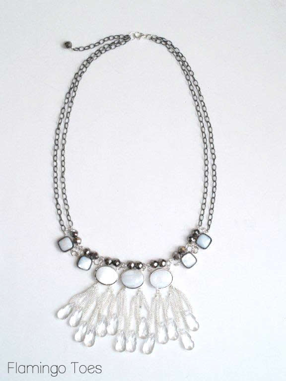 finished ice drops necklace