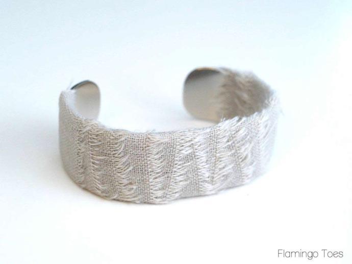 linen wrapped bracelet