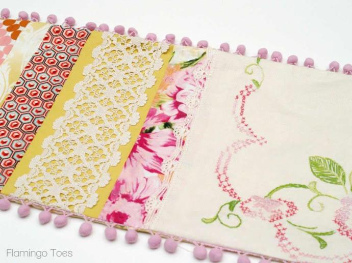 Linen and Fabric Table Runner